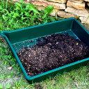 寄せ植え 植え替え 土作りにおすすめトレイ園芸作業台の上にも。プラスチック製 注ぎ口があって便利なトレー ポーリングトレイ -Pouring Tray-