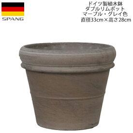 【30%OFF】SPANG/スパング ダブルリムポット外径33cmサイズ マーブル・グレイ色[GMF-33]