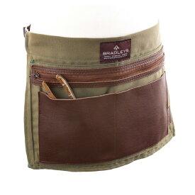 【BRADLEYSアイテムSALE対象品】 Bradley's/ブラッドリーズ伝統的なレザー&リネンのハーフエプロン- Heritage Half Leather & Linen Apron -【送料無料】 【2019年7月再入荷】