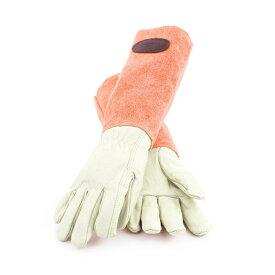 ギフトにおすすめ! Bradley's/ブラッドリーズカラースエードレザーグローブ オレンジ- Suede Leather Gardening Gloves -【送料無料】