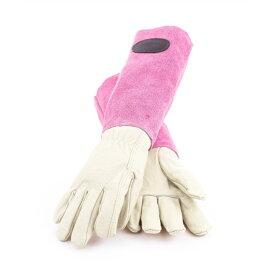 ギフトにおすすめ! Bradley's/ブラッドリーズカラースエードレザーグローブ ピンク- Suede Leather Gardening Gloves -【送料無料】