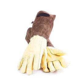 【お買い物マラソン期間クーポン配布中】 Bradley's/ブラッドリーズ伝統的なレザーのガーデニンググローブ Lサイズ- Heritage Leather Gardening Gloves -