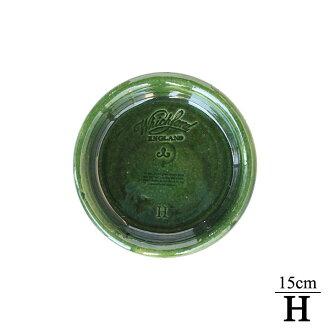 Whichford 陶瓷釉料和只有 Terra 陶水泛 (飛碟) 直徑 15 釐米大小 (H) WF-H-gl 聯合王國聯合王國渴望福德 /Whichford 公司花盆 / 兵馬俑