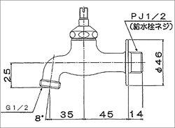 スタンダード蛇口十字ハンドルブロンズ色寒冷地仕様[GM3-F-202K]ONLYONE/オンリーワン[F-5