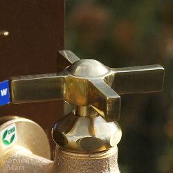 【寒冷地仕様】[ニッコーエクステリア]ガーデニング用水栓Nシリーズ蛇口ウェッジクロス真鍮【N201K】[F-501/F-506適合品]