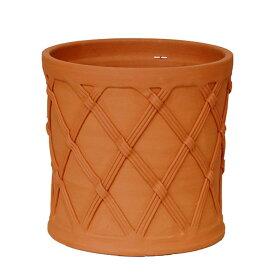 【資材セットプレゼント対象】 バスケットバレル 直径32cmサイズWF-1499[ウィッチフォード テラコッタ/植木鉢] 【2019年9月再入荷】