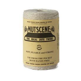 NUTSCENE/ナッツシーン 麻ひも(麻紐)ガーデンマートオリジナル特注色ジュートスプール ペール シュガーホワイト 約180g