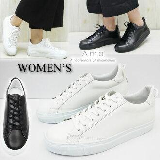 流行磁懸浮軸承 (ehembea) 低切皮革運動鞋白色 9838 L 磁懸浮軸承運動鞋 amb 皮革大尺寸女士鞋大使運動鞋白色