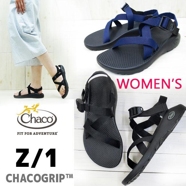 再入荷【WOMEN'S】定番 chaco サンダル レディース Women's Z/1 独自に開発したCHACOGRIPソール chaco サンダル【 BLACK 】【 INDIGO 】 chaco z1 スポーツサンダル スポサン チャコ レディース