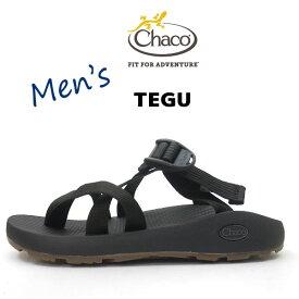 2019SS新入荷【メンズ】 CHACO Mens TEGU チャコ メンズ テグ サンダル CHACOGRIPソール 【 SOLID BLACK 】スポーツサンダル スポサン チャコ サンダル chaco サンダル かかと無し