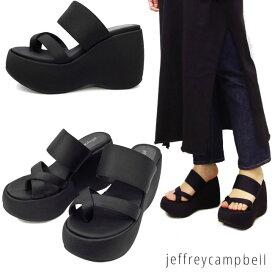 【2019春夏新作】 10cmの高さが足を綺麗に見せる♪ウェッジタイプで歩き易さも抜群! ジェフリーキャンベル 厚底サンダル 4072 jeffrey campbell