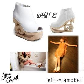 【★】*シロのみ* 歩くアート! Jeffrey Campbell ( ジェフリーキャンベル ) SKATE ( スケート ) ウェッジ サンダル ( ウッドサンダル ) 【WHITE】