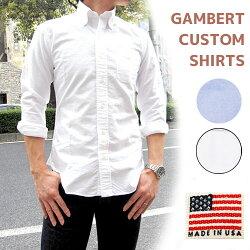 GAMBERTCUSTOMSHIRT(ギャンバートカスタムシャツ)オックスフォードボタンダウンシャツL/SB.D.SHIRTOXFORDWASHEDGMBT-009OX