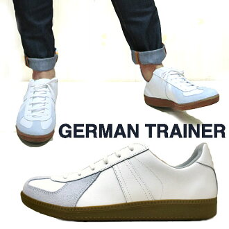 #1183 white sneakers Tanaka universal jar man trainer GERMAN TRAINER sneakers men gap Dis (WHITE: white white) leather string shoes jar mantle Rayner sneakers sports shoes