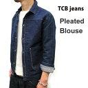 ライトな生地で春先におススメ☆ デニムジャケット TCB jeans [ ティーシービージーンズ ] [ TCB Pleated Blouse ] 18…