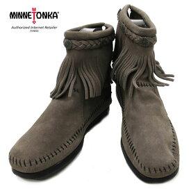 【最終セール☆】【現在庫で取扱い終了】 【国内正規品】ミネトンカの代名詞ブーツ ★ MINNETONKA ミネトンカHi Top Back Zip Boot 【 291T : GREY】 ※返品不可商品です