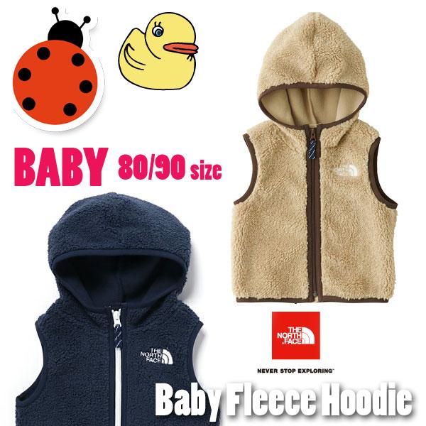 【80 90cm の子供用】2017FW ノースフェイス フリース キッズ 【 THE NORTH FACE ( ザ ノースフェイス )】 ベビーフリースベスト(ベビー) NORTH FACE NAB71703 80cm 90cm 1歳 2歳 Baby Fleece Vest