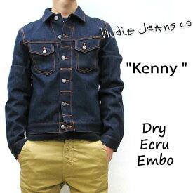 ドライデニム 2019SS NUDIE JEANS ( ヌーディージーンズ ) KENNY (ケニー) [ DRY ECRU EMBO ] (NB26) インディゴ 49161-5013 SKU#160629 nudie jeans ヌーディージーンズ ユニセックス Gジャン デニムジャケット 綿100%