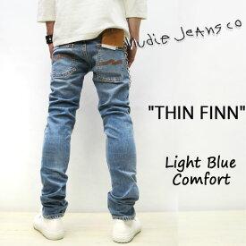 2019SS新作 NUDIE JEANS ( ヌーディージーンズ )THIN FINN [ LIFHT BLUE COMFORT ](N996) / シンフィン [ ライトブルーコンフォート ] 49161-1141 SKU#112985 nudie jeans THINFINN ヌーディージーンズ メンズ