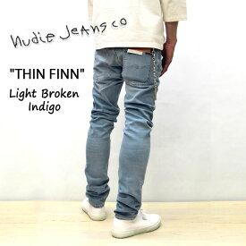 2019SS新作 NUDIE JEANS ( ヌーディージーンズ )THIN FINN [ LIGHT BROKEN INDIGO ](N027) / シンフィン [ ライトブロークンインディゴ ] 49161-1276 SKU#113006 nudie jeans THINFINN ヌーディージーンズ メンズ