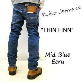2019SS新作 NUDIE JEANS ( ヌーディージーンズ )THIN FINN [ MID BLUE ECRU ](N002) / シンフィン [ ミッドブルーエクル ] 49161-1126 SKU#112943 nudie jeans THINFINN ヌーディージーンズ メンズ