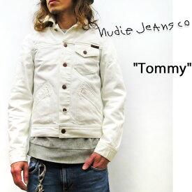 2019SS NUDIE JEANS ( ヌーディージーンズ ) TOMMY (トミー) [ DRY BONE ECRU ] (NW02) ホワイトデニム 49161-5002 SKU#160603 nudie jeans ヌーディージーンズ ユニセックス Gジャン デニムジャケット 綿100% DRYデニム