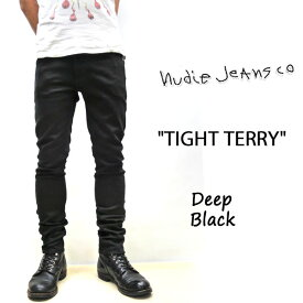 NUDIE JEANS ( ヌーディージーンズ )スキニーフィット TIGHT TERRY [ DEEP BLACK ] (787) / タイトテリー ディープブラック 46161-1017 SKU#112451 nudie jeans TIGHTTERRY ヌーディージーンズ ユニセックス