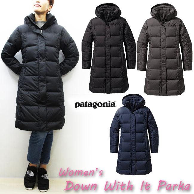 2017FWレディースモデル 【国内正規商品】PATAGONIA Women's Down With It Parka ウィメンズ ウィメンズ・ダウン・ウィズ・イット・パーカ  パタゴニア ダウンジャケット レディース ダウン