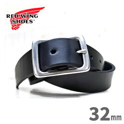 【日本正規販売代理店】REDWING(レッドウィング)【96562】HeritageLeatherBelttype2【ブラック】【32mm幅】米国製ヘリテージレザーベルトredwingbelt