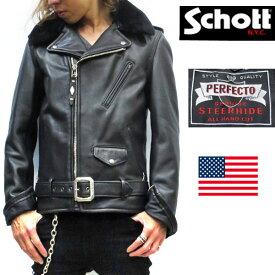 世界限定500着 そのうち日本販売は200着限定 2018FW【 schott 神戸正規 】 Schott ( ショット )90TH ANNIVERSARY PERFECTO JACKET / パーフェクト 90周年モデル【 ブラック 】schott 牛革schott メンズ 革ジャンJacket アメリカ製 7565 希少