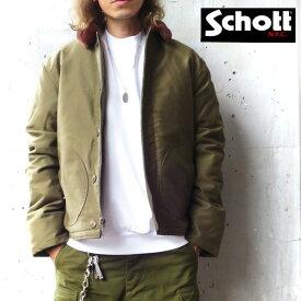 2019FW【schott 神戸正規 】 Schott ( ショット )DOWN FILLED N-1 デッキジャケット 【 全2色 】 43809 米海軍 / U.S.NAVY / ミリタリージャケット / ボアジャケット / N-1 DECK JACKET / ダウンジャケット 8725D