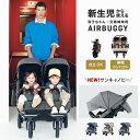 エアバギー ココ ダブル EX フロムバース[双子 多胎 新生児 1ヶ月 バギー a型 AIRBUGGY COCO DOUBLE FROM BIRTH]
