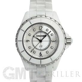 シャネル J12 ホワイトセラミック MOP/8Pダイヤ 33mm H2422 CHANEL 新品レディース 腕時計 送料無料