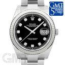 ロレックス デイトジャスト 41 126334G ブラック オイスターブレスレット ROLEX 【新品】【メンズ】 【腕時計】 【送…