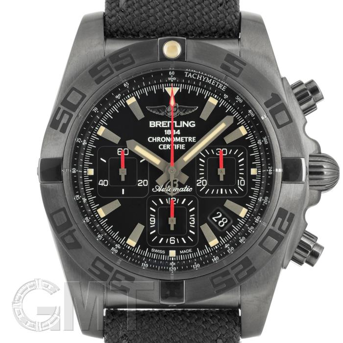 ブライトリング クロノマット 44 ブラックスチール M011B35ARB ミリタリーラバーベルト BREITLING 【新品】【メンズ】 【腕時計】 【送料無料】 【あす楽_年中無休】
