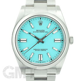 ロレックス オイスターパーペチュアル 41 124300 ターコイズブルー ROLEX 新品メンズ 腕時計 送料無料