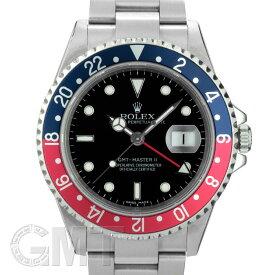 ロレックス GMTマスター II 16710 ブルー/レッド D番 スティックダイヤル ROLEX 中古メンズ 腕時計 送料無料