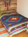 送料無料 マルチカバー アジアン ソファー おしゃれ 長方形 /ネイティブ/ インド綿 オルテガ ナバホ チマヨ ベッドカバー フックを付け…