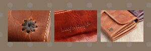LaughRough(ラフラフ)外がま口長財布【本革革レザーレディースナチュラルさいふサイフ植物タンニンなめし革】【プレゼントギフト女性彼女】