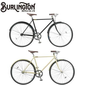 BURLINGTON700C1Sホリゾンタル500mmシングルスピードバーリントンノースウェストバイクロードバイク自転車マットブラック/アイボリー