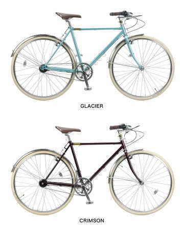 BURLINGTON700C9Dホリゾンタル500内装5段ギアバーリントンノースウェストバイクロードバイク自転車グレイシア/クリムゾン