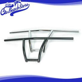 RAINBOW PRODUCTS/チョッパーTTバー ブラック クローム クランプ径22.2mm