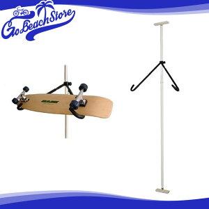 Rainbow/レインボー スノーボードラック スケートボードラック SR03 (スノー&スケート用・斜め置きタイプ) スノーボードスタンド ディスプレイ つっぱりタイプ スノーボード収納 スケートボー