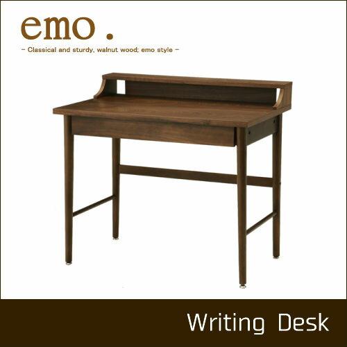 【今ならポイント5倍】【市場株式会社】【送料無料】【代引き不可】emo. Writing Desk EMT-2321BR ライティングデスク