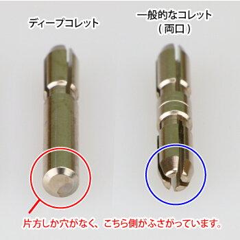 ディープコレット(片口コレット)ゴッドハンドトライアル直販限定日本製模型工具鉄製コレットチャックショートパワーピンバイス