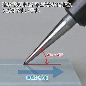 リーゲルニードル直線用曲線用ケガキ針セットゴッドハンドスジ彫りけがき
