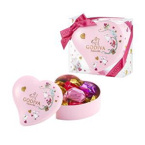 バレンタイン チョコレート 2020 ゴディバ(GODIVA)G キューブ アソートメント ミニハート缶 5粒
