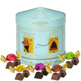 プレゼント ギフト お返し お祝い チョコレート スイーツ ゴディバ(GODIVA)バースデーオルゴール缶 G キューブ アソートメント (10粒入)