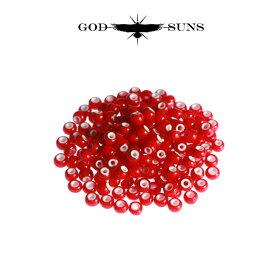 ホワイトハーツ(大) 赤色(1個売り) メンズ アクセサリー ネックレス ネイティブ アメカジ ビーズ インディアンジュエリー イーグル フェザー【GODSUNS ゴッドサンズ】