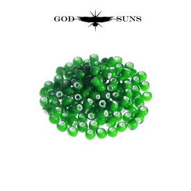 ホワイトハーツ(大) 緑色(1個売り) メンズ アクセサリー ネックレス ネイティブ アメカジ ビーズ インディアンジュエリー イーグル フェザー【GODSUNS ゴッドサンズ】